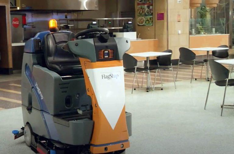 Floor Scrubbing Artificial Intelligent Robot
